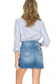 ELISABETTA FRANCHI | Set van rok en blouse Cira | blauw  | Afbeelding 6