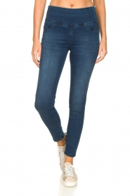 Patrizia Pepe |  High-waist jegging Lola | blue  | Picture 4