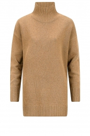 Knit-ted |  Oversized sweater Fleur | camel  | Picture 1