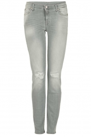7 For All Mankind | Distressed skinny jeans Slim Illusion lengtemaat 30 | grijs  | Afbeelding 1