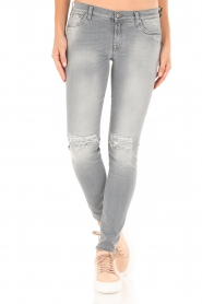 7 For All Mankind | Distressed skinny jeans Slim Illusion lengtemaat 30 | grijs  | Afbeelding 2