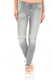 7 For All Mankind | Distressed skinny jeans Slim Illusion lengtemaat 30 | grijs  | Afbeelding 3