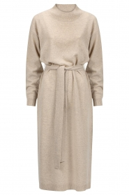 Knit-ted |  Midi sweater dress Lina | beige  | Picture 1