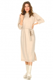Knit-ted |  Midi sweater dress Lina | beige  | Picture 4