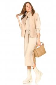 Knit-ted |  Midi sweater dress Lina | beige  | Picture 3