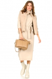 Knit-ted |  Midi sweater dress Lina | beige  | Picture 2