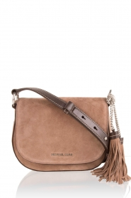 Suede shoulder bag Elyse | brown