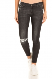 7 For All Mankind | Skinny jeans The Skinny | zwart  | Afbeelding 2