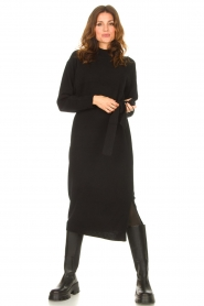 Knit-ted |  Midi sweater dress Lina | black  | Picture 4