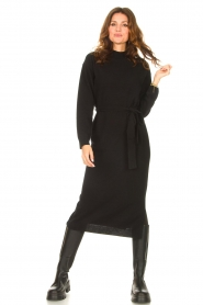 Knit-ted |  Midi sweater dress Lina | black  | Picture 2