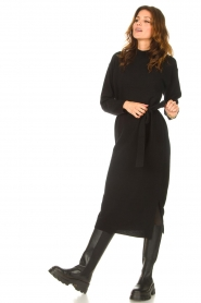 Knit-ted |  Midi sweater dress Lina | black  | Picture 5