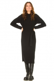 Knit-ted |  Midi sweater dress Lina | black  | Picture 3