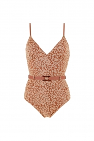 Love Stories |  Leopard printed swimsuit Maddy | pink  | Picture 1
