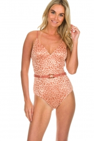 Love Stories |  Leopard printed swimsuit Maddy | pink  | Picture 3