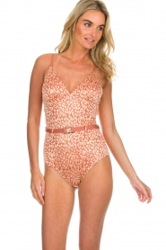 Love Stories |  Leopard printed swimsuit Maddy | pink  | Picture 2