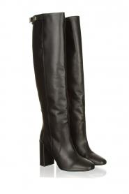 Patrizia Pepe |  Leather knee boots Sarella | black  | Picture 3