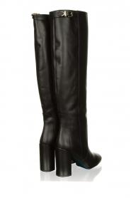 Patrizia Pepe |  Leather knee boots Sarella | black  | Picture 4