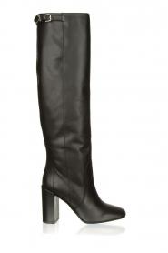 Patrizia Pepe |  Leather knee boots Sarella | black  | Picture 1
