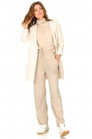 Knit-ted |  Blazer cardigan Sammie | beige  | Picture 3