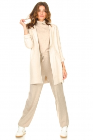 Knit-ted |  Blazer cardigan Sammie | beige  | Picture 4