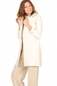 Knit-ted |  Blazer cardigan Sammie | beige  | Picture 5