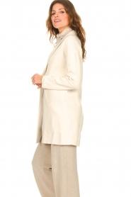 Knit-ted |  Blazer cardigan Sammie | beige  | Picture 6