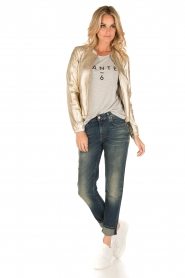 7 For All Mankind | Girlfriend jeans The Relaxed Skinny | blauw  | Afbeelding 3