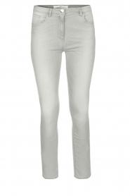 ELISABETTA FRANCHI | Stretch mid-rise jeans | lichtgrijs  | Afbeelding 1