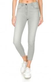 ELISABETTA FRANCHI | Stretch mid-rise jeans | lichtgrijs  | Afbeelding 2