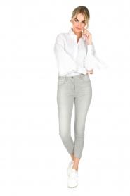 ELISABETTA FRANCHI | Stretch mid-rise jeans | lichtgrijs  | Afbeelding 3