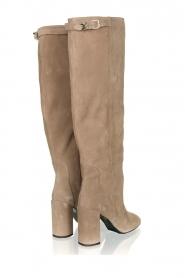 Patrizia Pepe |  Suede knee boots Sarella | beige  | Picture 5