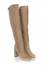 Patrizia Pepe |  Suede knee boots Sarella | beige  | Picture 4