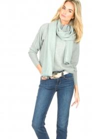 Knit-ted | Gebreide sjaal Robine | blauw  | Afbeelding 2