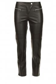 Patrizia Pepe |  Faux leather pants Misty | black  | Picture 1