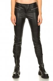 Patrizia Pepe |  Faux leather pants Misty | black  | Picture 4