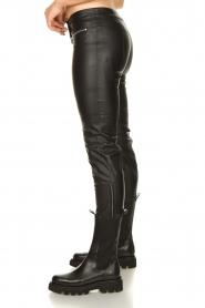 Patrizia Pepe |  Faux leather pants Misty | black  | Picture 5