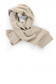 Knit-ted |  Knitted scarf Robine | beige  | Picture 1