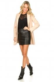 Patrizia Pepe    Faux leather skirt Caro   black    Picture 4