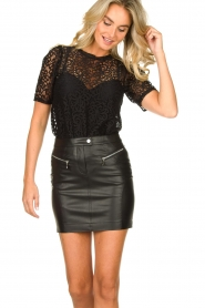 Patrizia Pepe |  Faux leather skirt Caro | black  | Picture 6