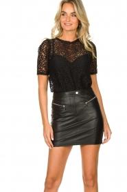 Patrizia Pepe    Faux leather skirt Caro   black    Picture 5