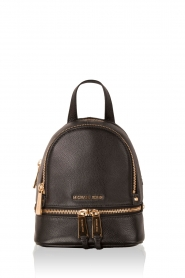 MICHAEL Michael Kors |  Leather backpack Rhea Zip | black  | Picture 1
