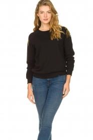 Patrizia Pepe |  Sweatshirt with sequins Yana | black  | Picture 4