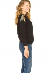 Patrizia Pepe |  Sweatshirt with sequins Yana | black  | Picture 5