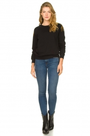 Patrizia Pepe |  Sweatshirt with sequins Yana | black  | Picture 3