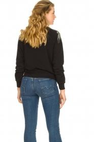 Patrizia Pepe |  Sweatshirt with sequins Yana | black  | Picture 6