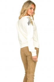 Patrizia Pepe |  Sweater with sequins Sanna | white   | Picture 5