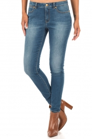 MICHAEL Michael Kors | Skinny jeans Selma lengtemaat 32 | blauw  | Afbeelding 2
