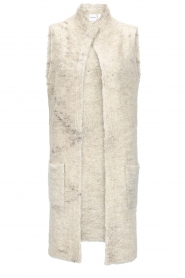 Knit-ted |  Sleeveless cardigan Liselotte | ivory  | Picture 1