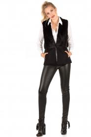 MICHAEL Michael Kors | Gilet Foxy | zwart  | Afbeelding 3