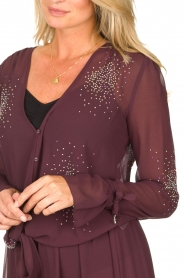 Patrizia Pepe |  Blouse with rhinestones Rina | purple  | Picture 6